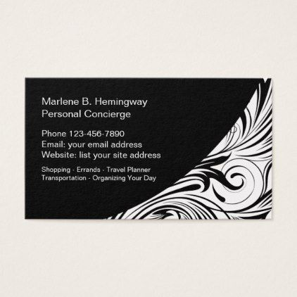 Personal Concierge Services Business Card Zazzle Com With