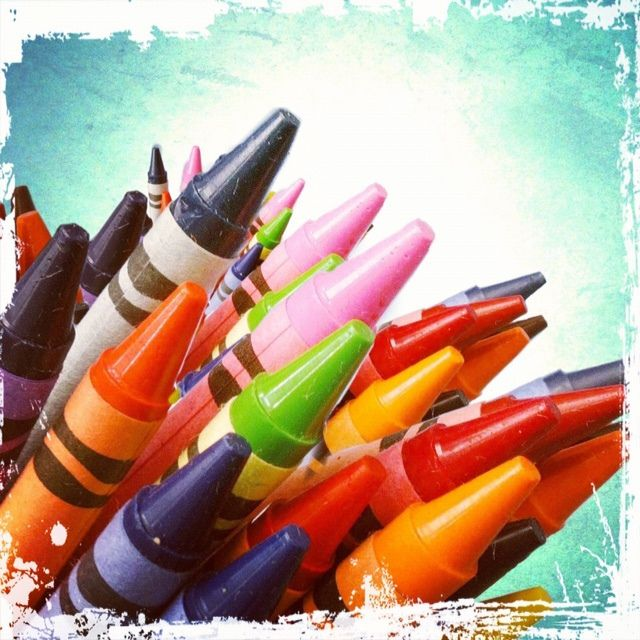 You have to have crayons!  Crayons: School Art Therapy, Cleveland, Ohio by Art Therapy Alliance, via Flickr