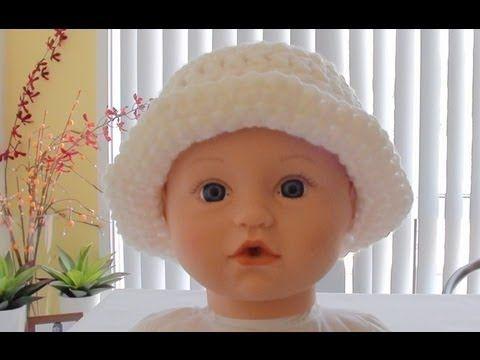 546083592c7 Easy to crochet sun hat   summer hat  gorra para el sol y verano ...