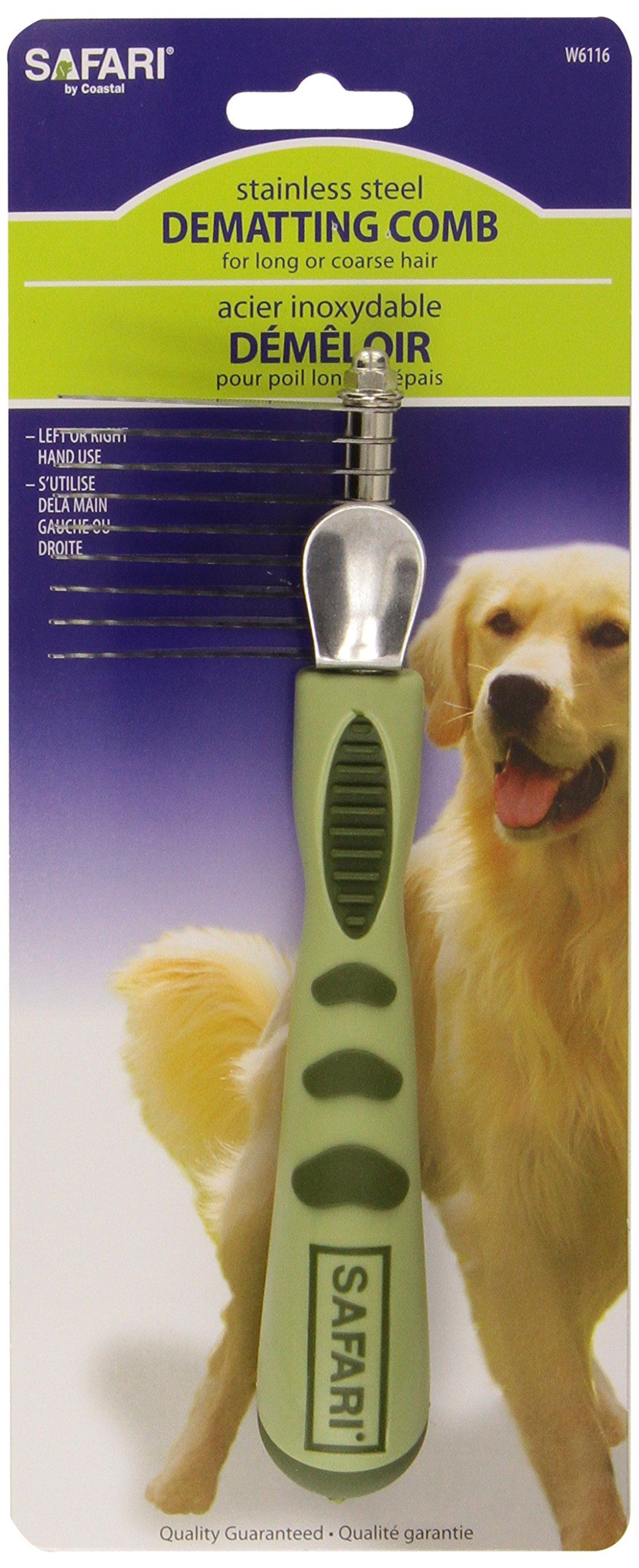 Safari Dog DeMatting Comb, One Size, Dog Comb, Dematting
