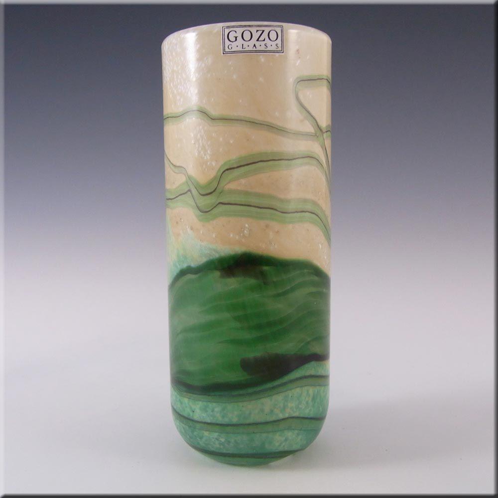 Gozo Maltese Glass 'Springtime' Vase - Signed + Labelled - £30.00
