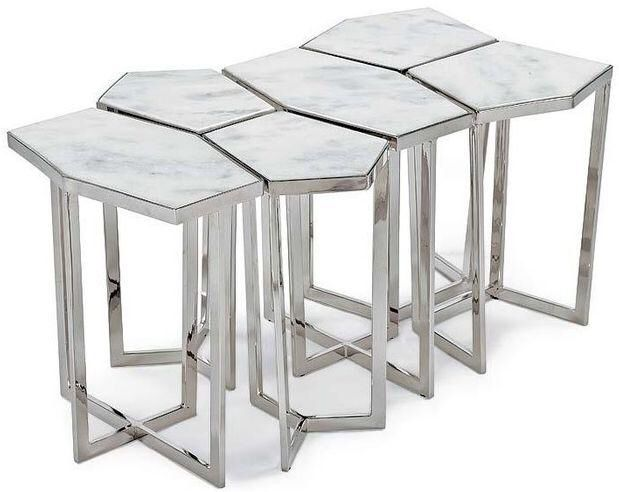 italian round marble pedestal table | puzzle table