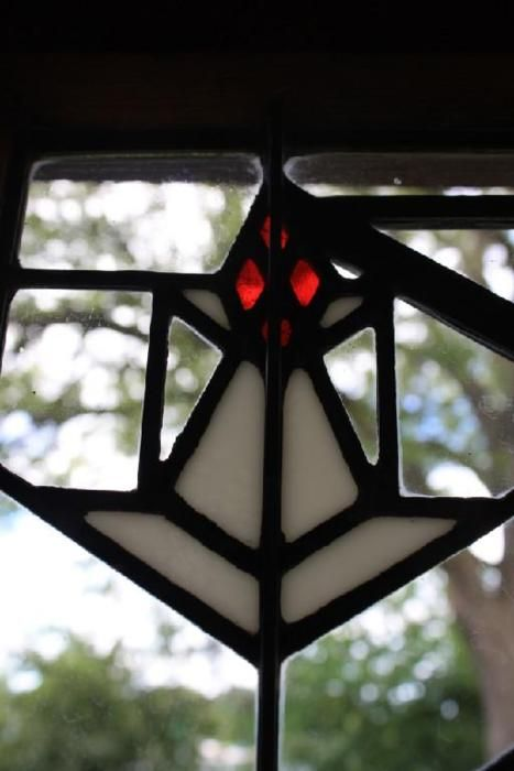 Stained Glass Window At The Bradley House In Kankakee