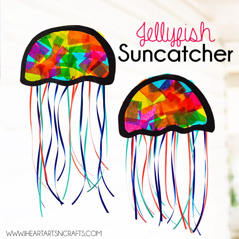 Suncatcher Jellyfish Kids Craft Children S Art Crafts For Kids