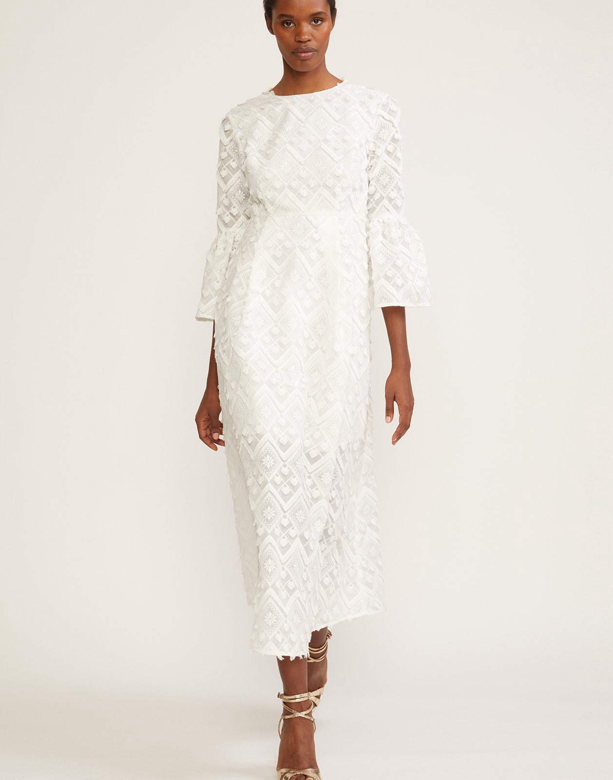 Cynthia rowley romy lace bell sleeve dress products