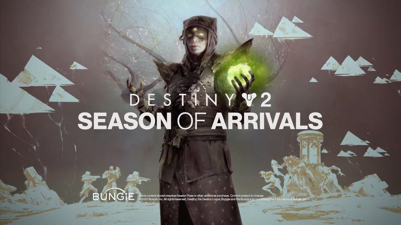 Destiny 2 Season Of Arrival Launch Trailer In 2020 Destiny Seasons Arrivals