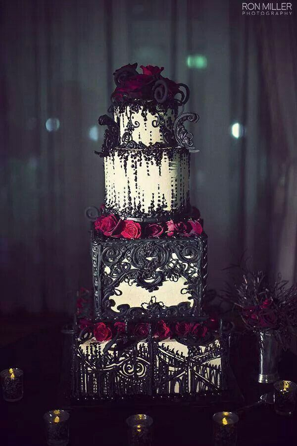 Amazing Gothic Wedding Cake Photo By Ron Miller Photography