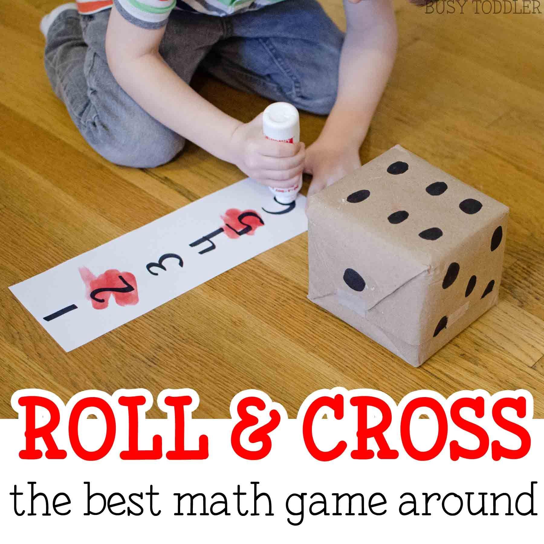 Roll & Cross Math Game Easy math games, Math games for