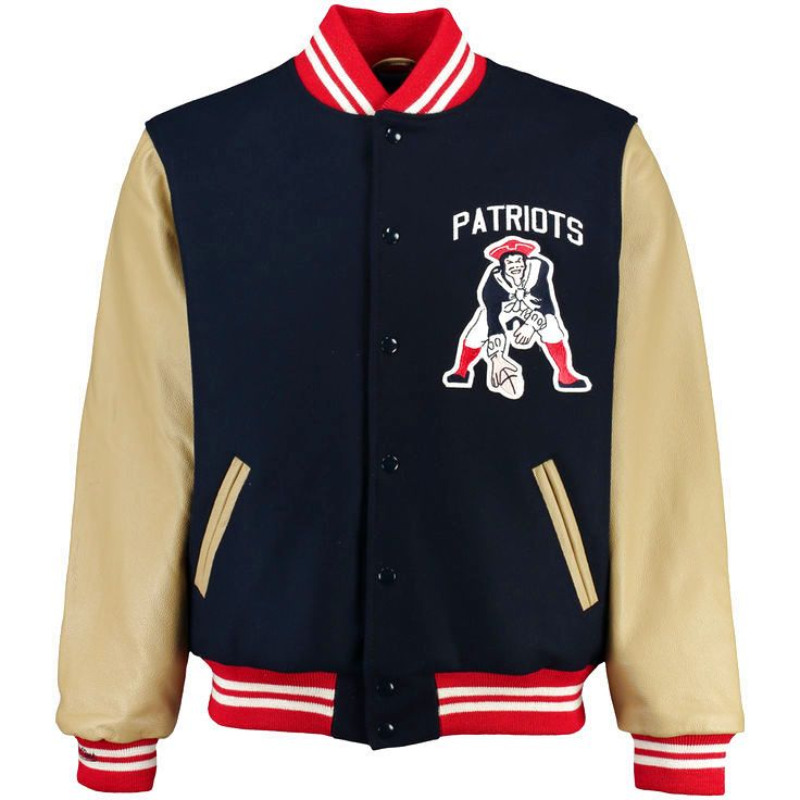 New England Patriots Mitchell   Ness NFL Wool Leather Varsity Jacket - Navy  -  479.99 220ee722fd3