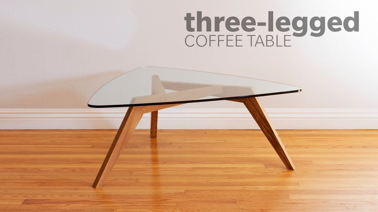 How To Build A Mid Century Modern Coffee Table With 3 Legs