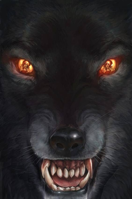 Black Wolf, but with blue eyes ! | casque | Anime wolf ...