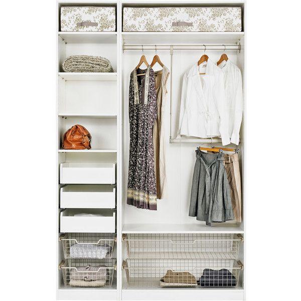 Pax Hemnes Guardaroba Ikea.Ikea Pax Wardrobe With Interior Organizers White Hemnes Gray Brown