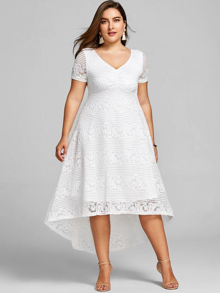 Vestidos Plus Size Ropa De Moda Para Mujer De Fiesta Y Casuales Tallas Grandes Mer Vestido Para Gorditas Vestidos Para Gorditas Jovenes Vestido De Novia Corto