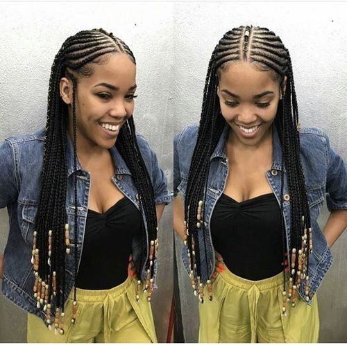 Idees De Coiffures Inspirees Des Tresses Peulhs DAlicia Keys Black Girls HairstylesBlack Cornrow