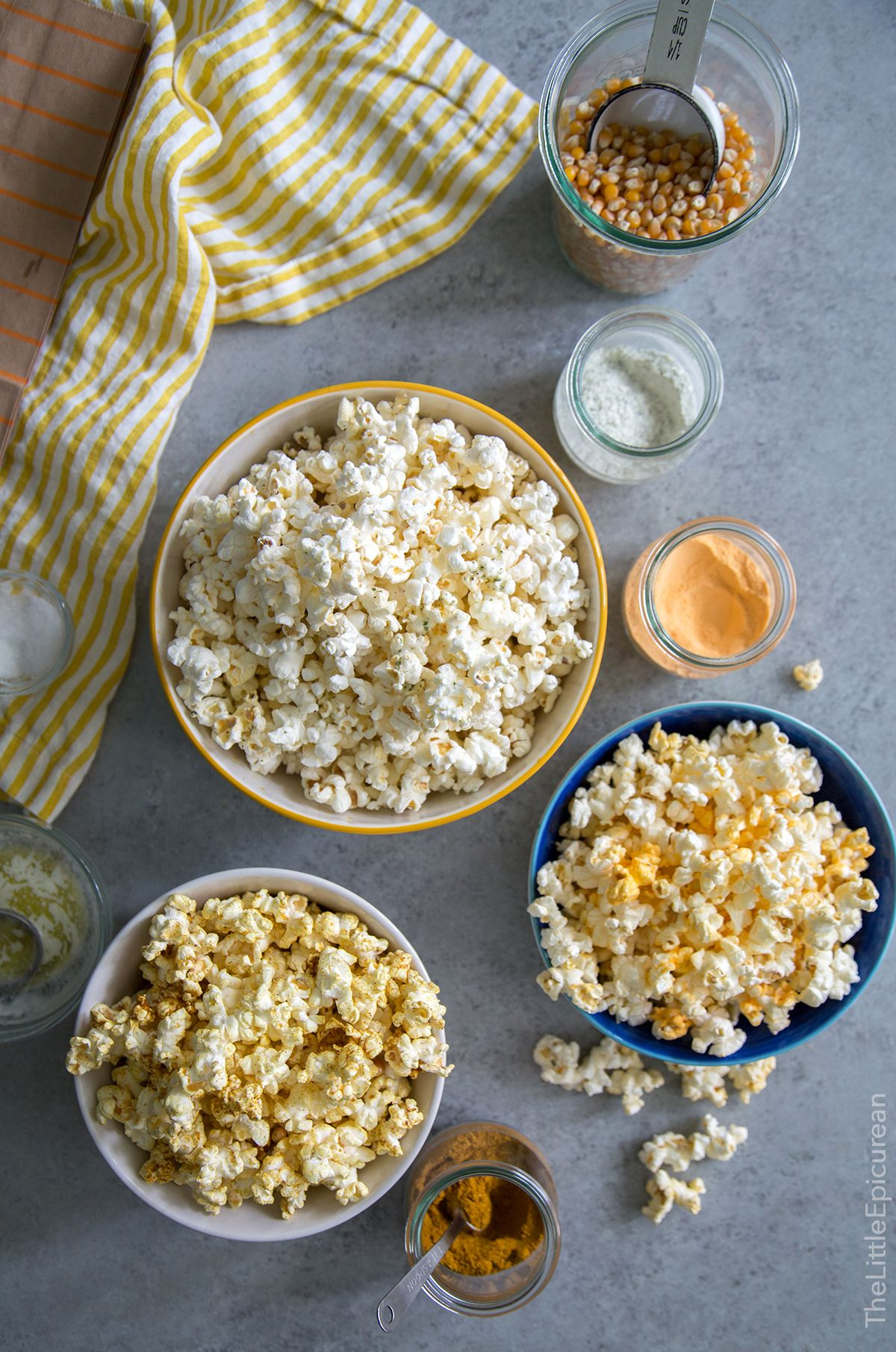 Homemade Microwave Popcorn (with flavor mixins