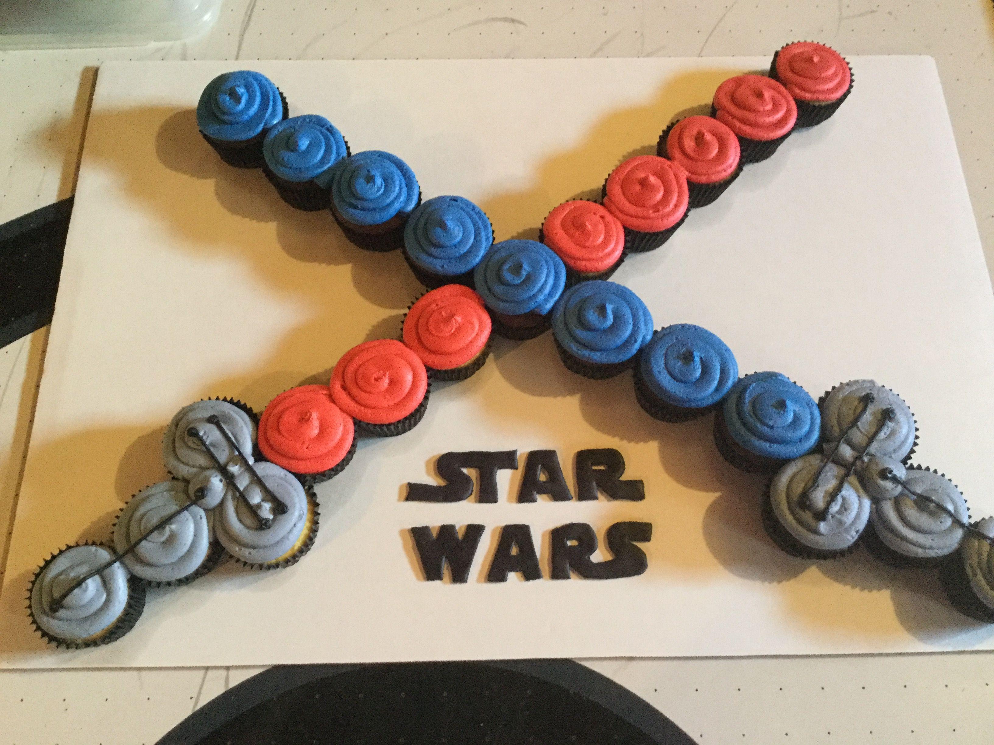 Star Wars Cupcakes Star Wars Cupcakes Star Wars Birthday Star