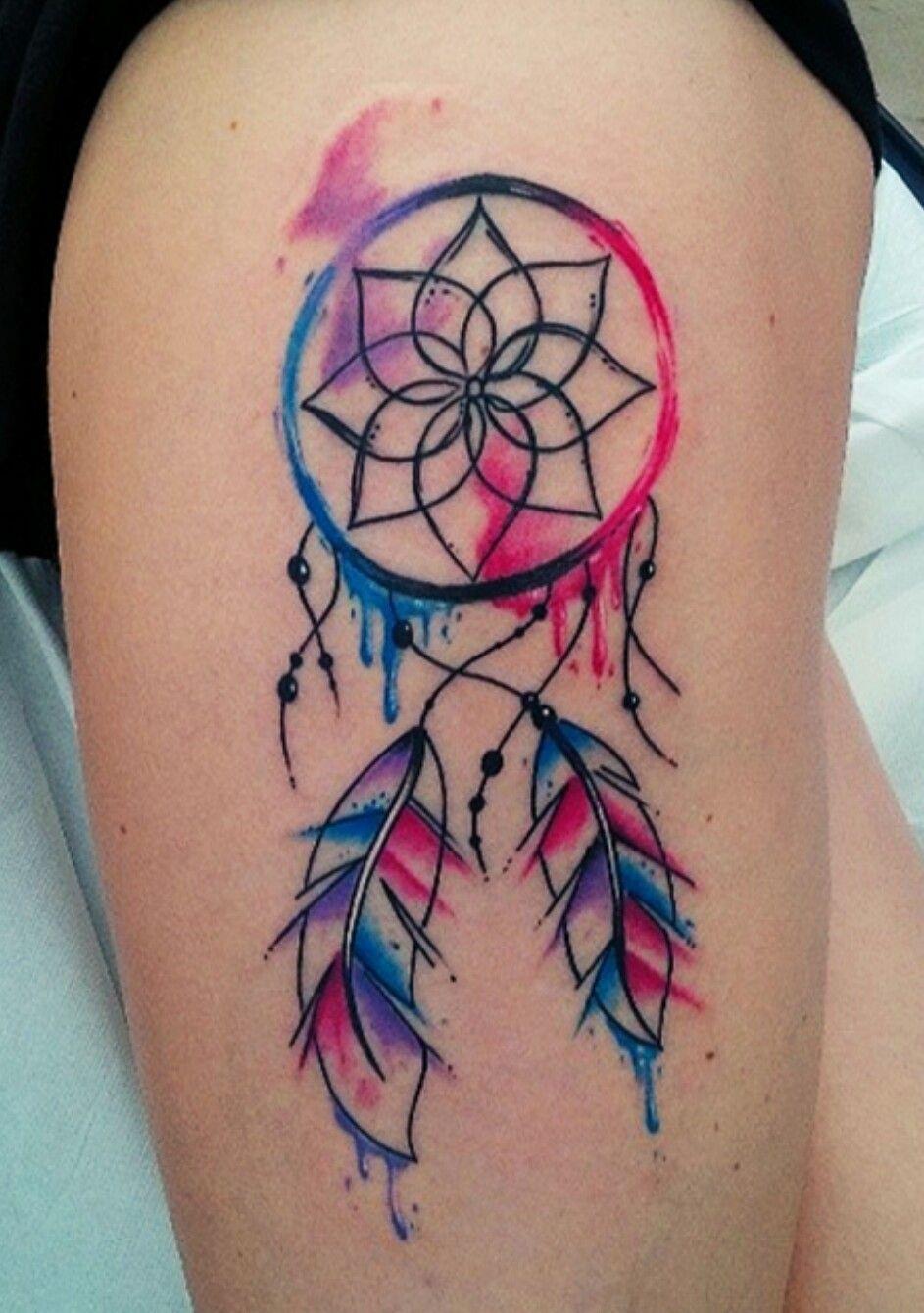Dream catcher Dream catcher tattoo, Watercolor