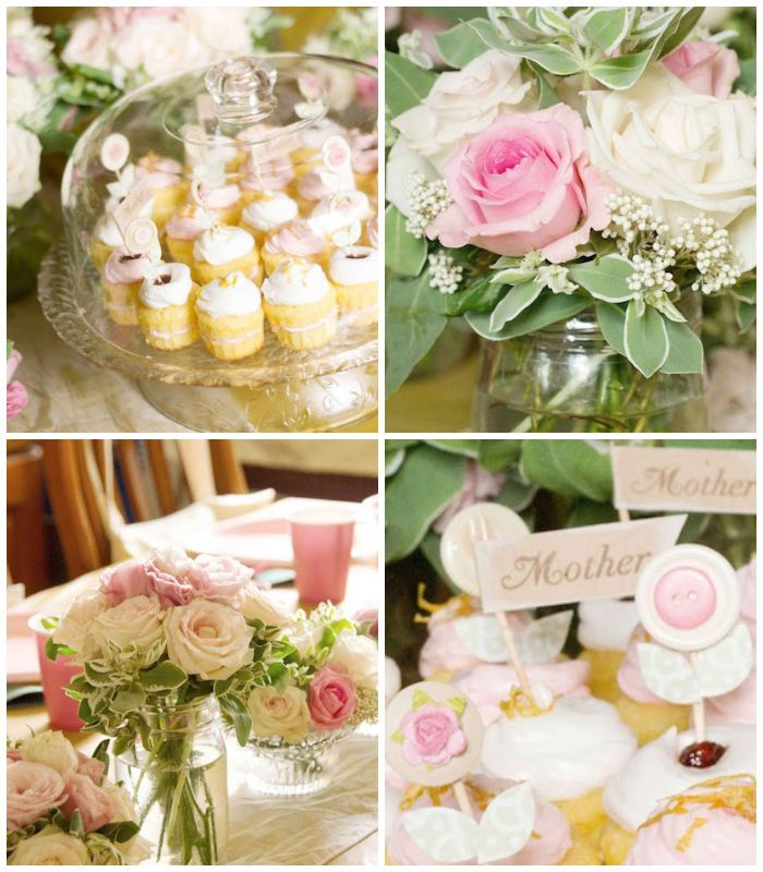Mother's Day garden party with such cute ideas via Kara's Party Ideas! full of decorating ideas, dessert, cake, cupcakes, favors and more!