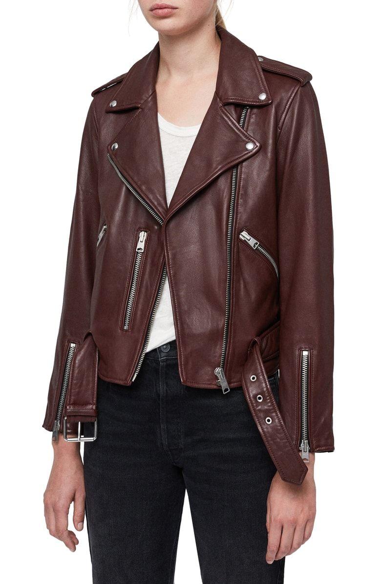 145f92bc7 Free shipping and returns on ALLSAINTS Balfern Leather Biker Jacket ...