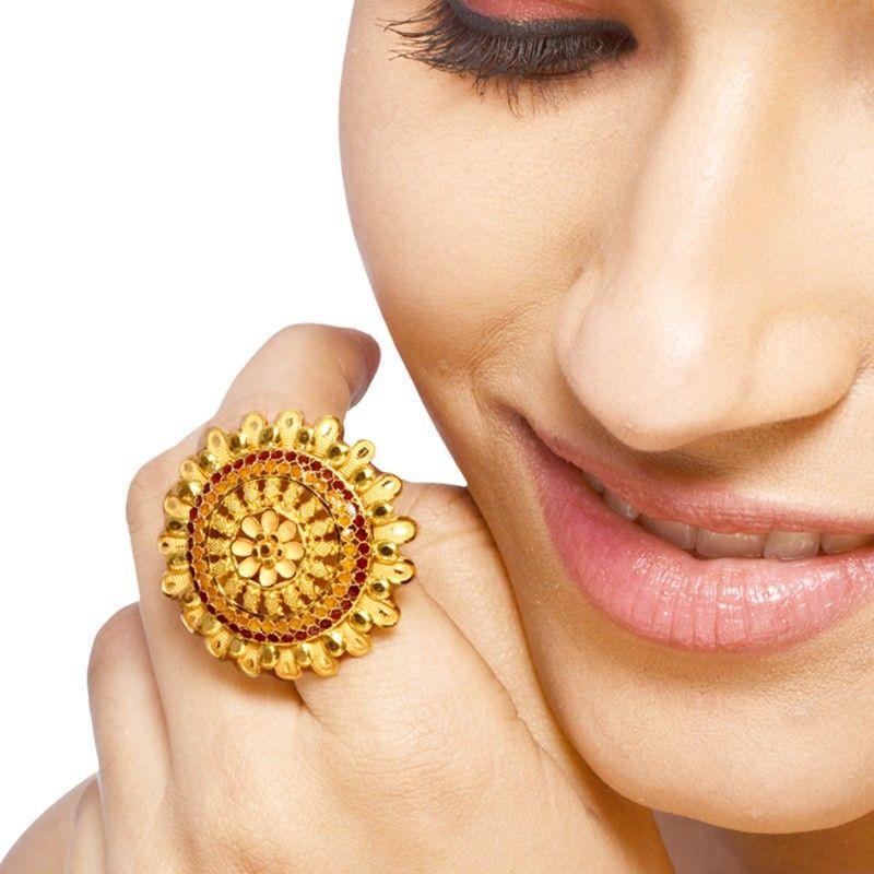 Unique Gold Cocktail Ring Design | Jewellry\'s Website