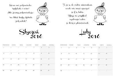 Kalendarz 2016 Mala Mi Graphic Data Blog