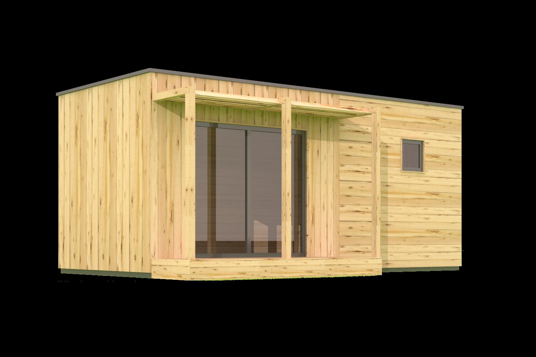 Studio 20m2 cl en main cabanon en 2019 pinterest chalet chalet bois et cabanon - Baraque de jardin ...