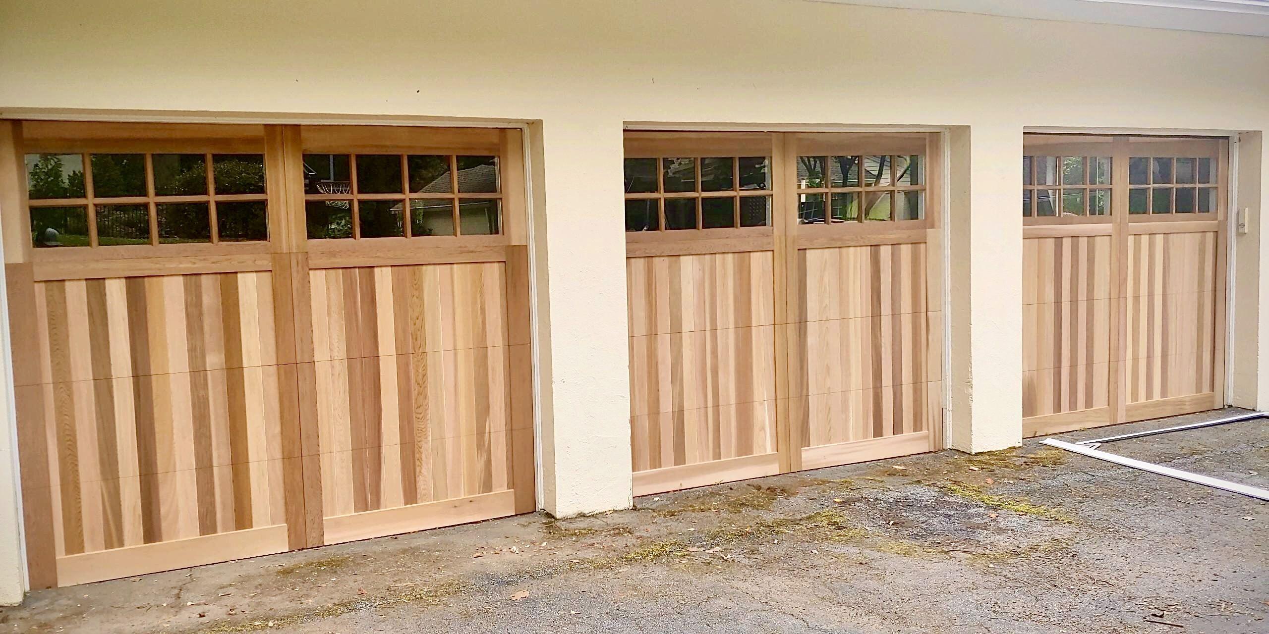Wood Overlay Garage Door In 2020 Wood Garage Doors Garage Doors Steel Doors