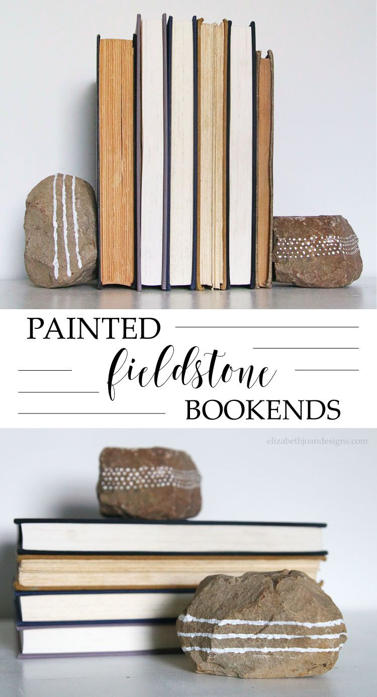 Painted Fieldstone Bookends How to / DIY Tutorials Diy
