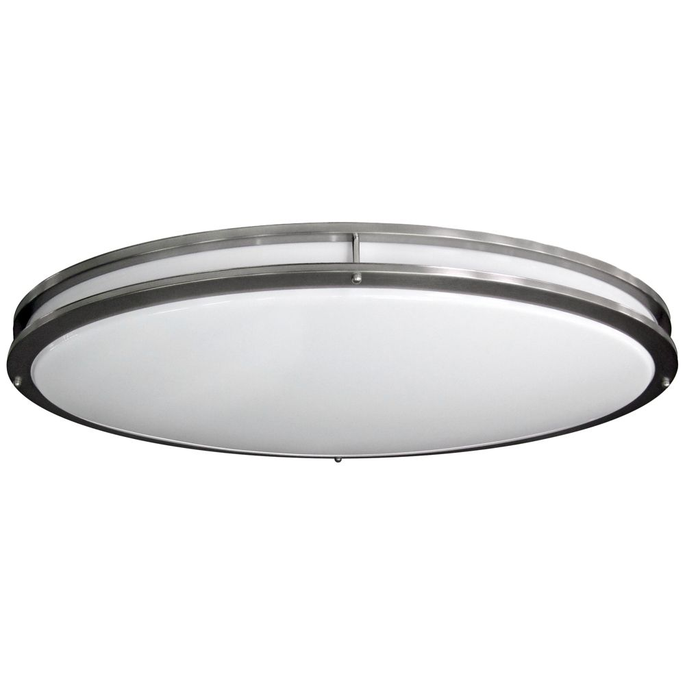 Nickel Oval Wide Lumen LED Ceiling Light Style - Oval kitchen light fixtures