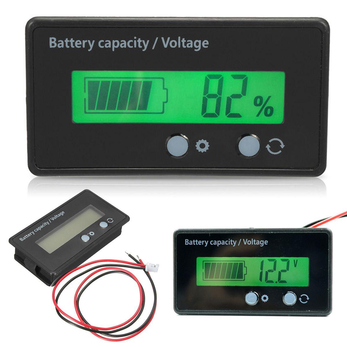 1 Pc Wskaznik Naladowania Baterii Litowo Tester Miernik Mocy Lcd Cyfrowy Woltomierz Napiecia Do 12 V 24 V 36 V 48 V Kwasu Olowiu Mayitr Meters