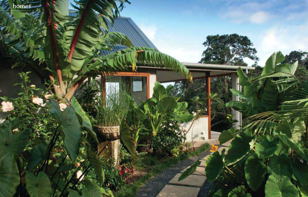 Home in a tropical setting