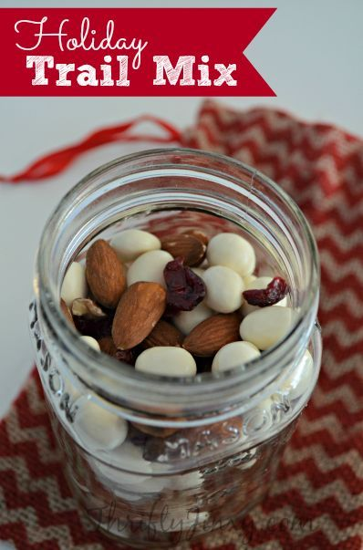 Holiday Trail Mix Recipe – Great Gift in a Jar!