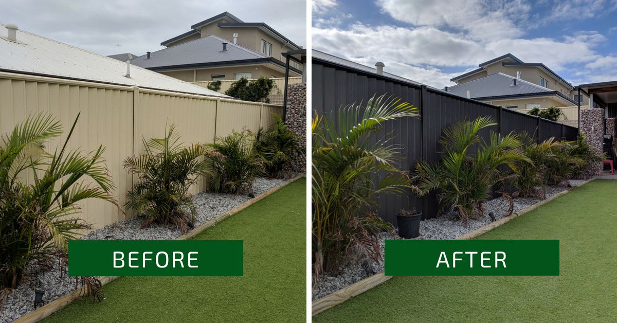 Colorbond Fence Respraying Colour Monument Www Fencemakeovers