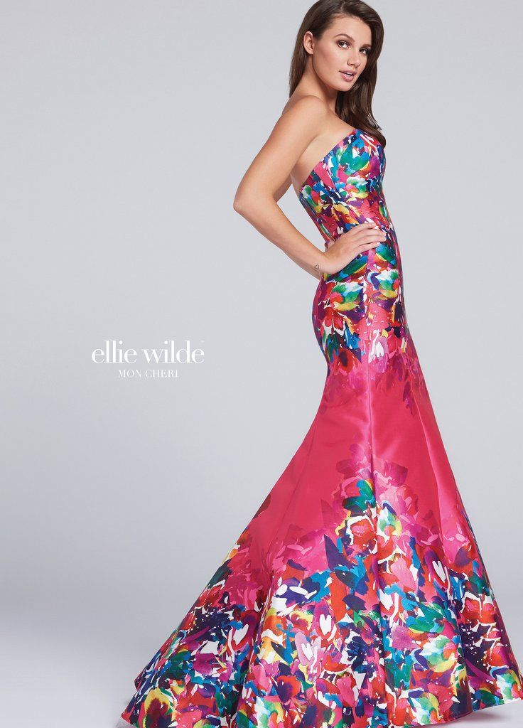 647136a2de00 Ellie Wilde  EW117002 Hot Pink Floral Prom Dress sz 10 - Sandra Rose