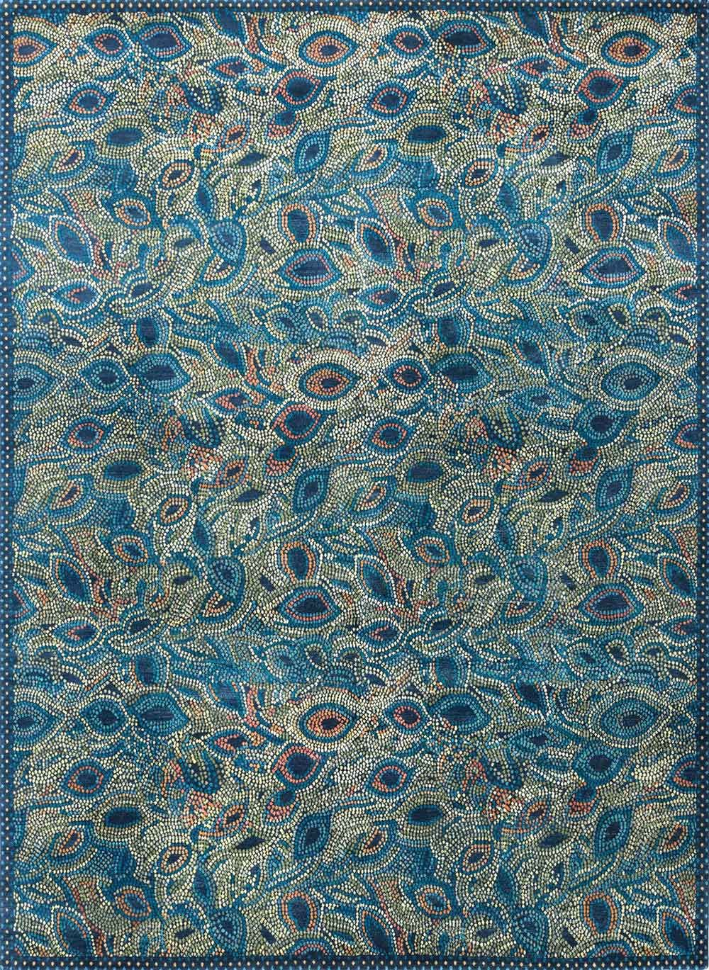 2014 New Moon Carpet Design Peacock Feathers Peacock