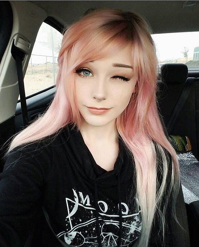 Long pastel pink hairstyle by nicoleeeveedavis