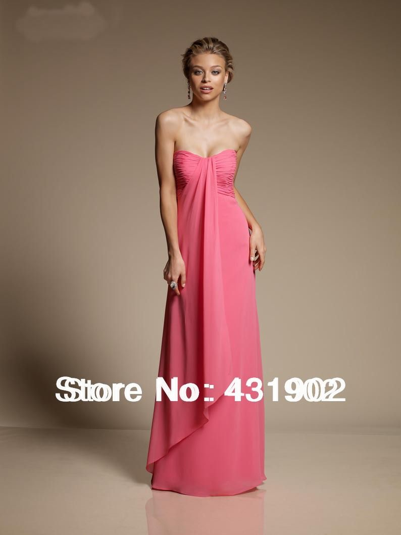 New arrival flattering draped chiffon sweetheart watermelon new arrival flattering draped chiffon sweetheart watermelon country style bridesmaid dresses bn1019 ombrellifo Choice Image