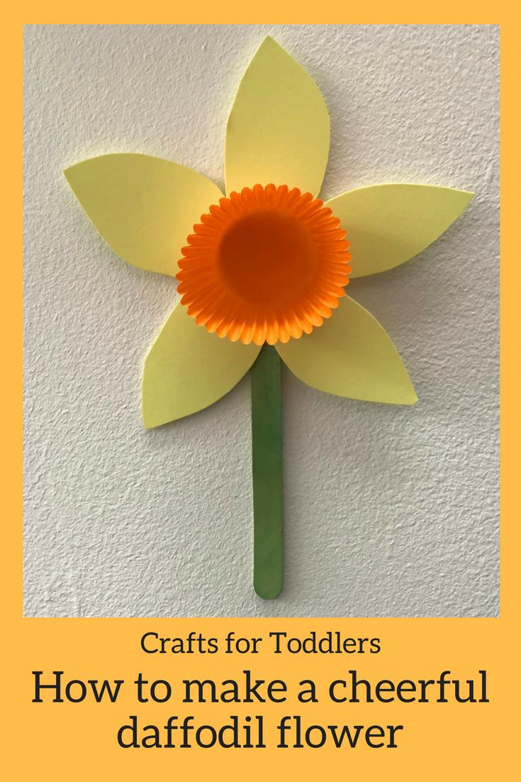 Kids Crafts How To Make A Cheery Daffodil Flower Creative Stuff