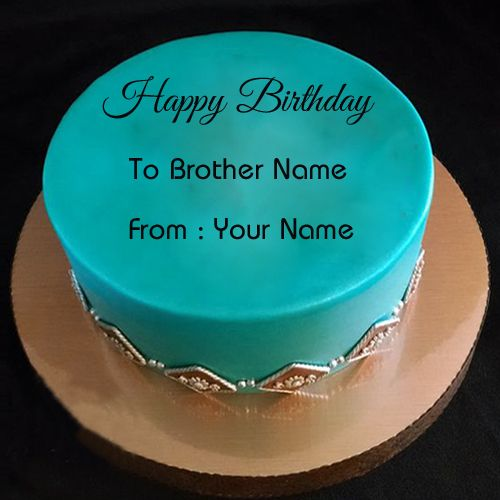 Brother Birthday Wishes Special Cake With Your Name HBD ...