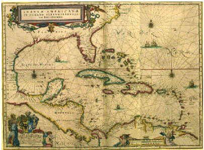 Caribbean Pirate Map | Things to Hang on Walls | Pirate maps ...