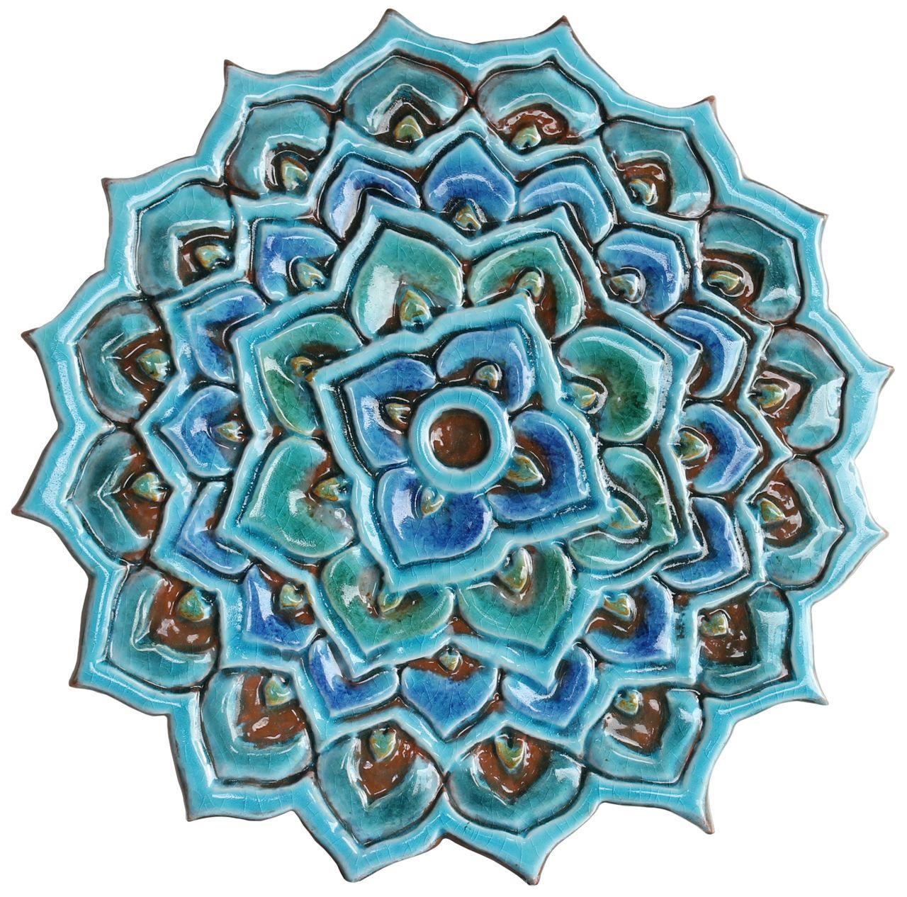 Image result for moroccan mandala mandalas pinterest moroccan mandala wall decor made from ceramic outdoor wall art ceramic tile mandala 2 cutout turquoise dailygadgetfo Gallery