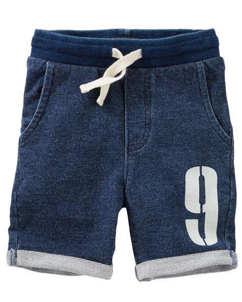 ShortsJeans Y Varsity Niños Moda French RopaBermudas Terry dBeroxC