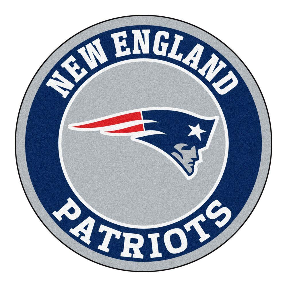 FANMATS NFL New England Patriots Navy 2 ft. x 2 ft. Round