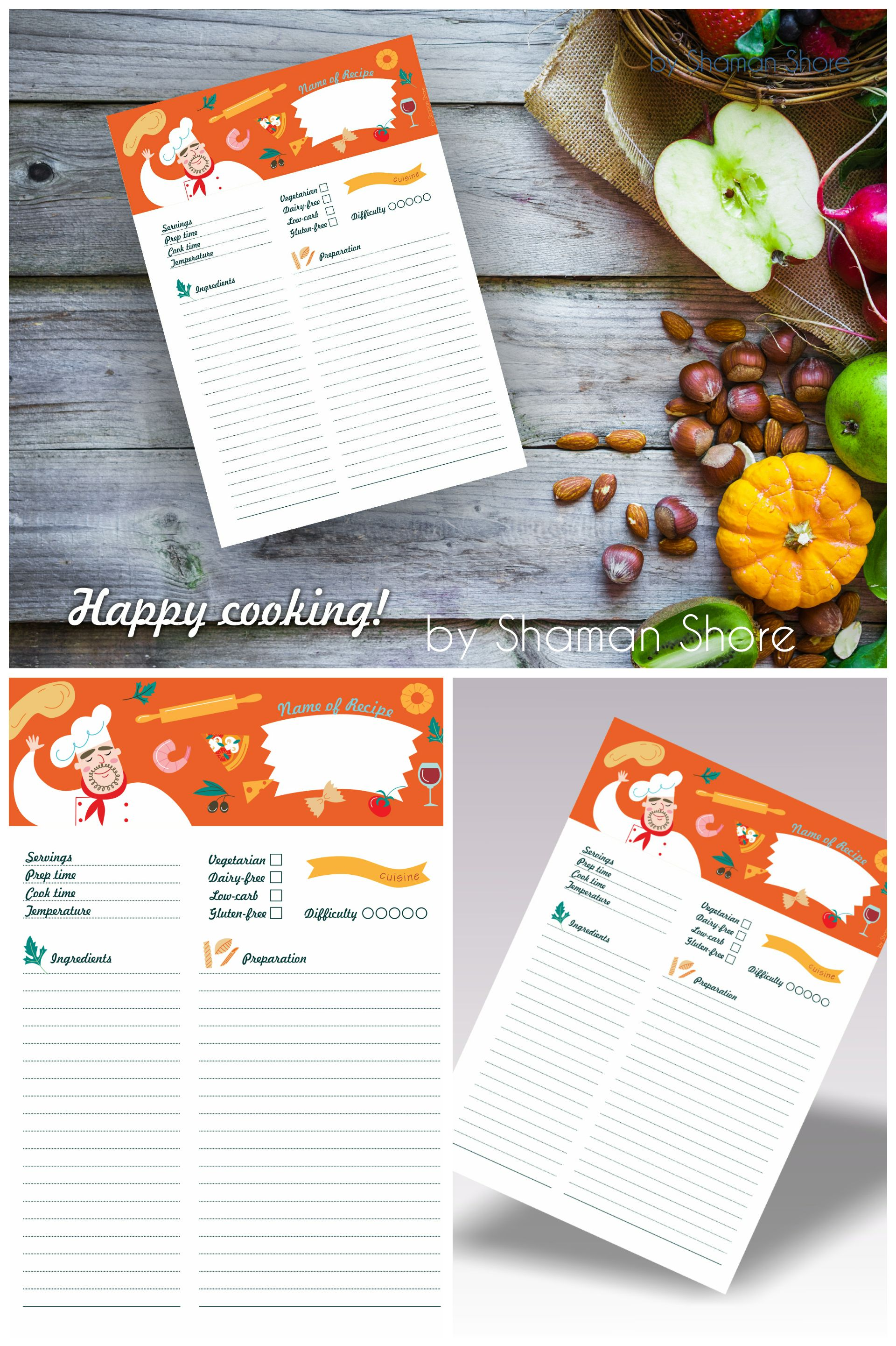 This is a picture of Monster Happy Planner Recipe Printable
