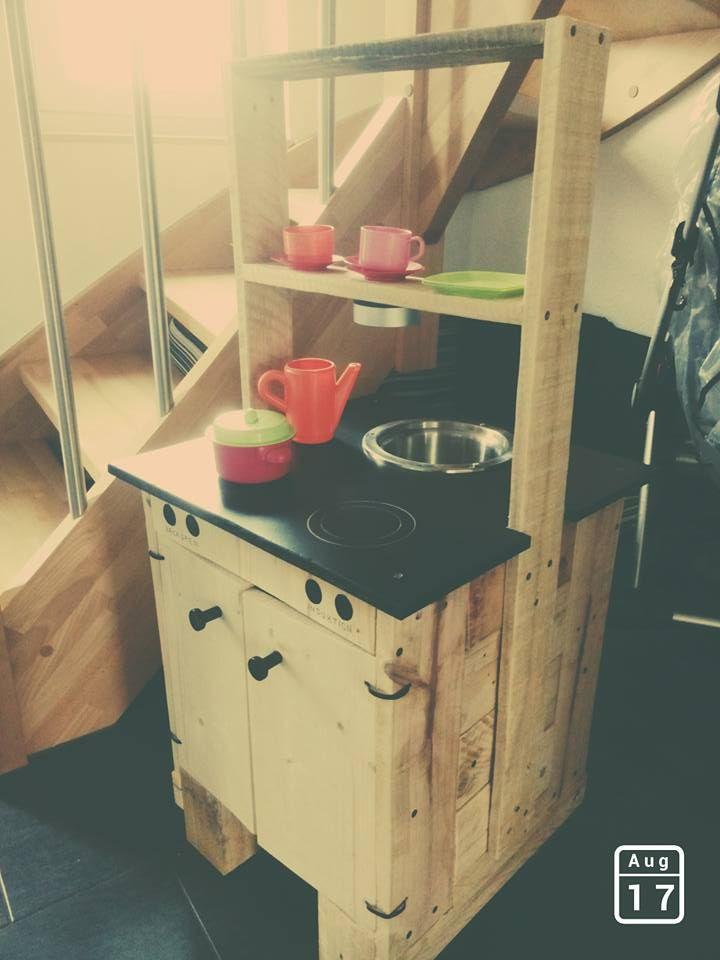 Kinderspielküche mit Backofen und Spüle | Paletten | Pinterest