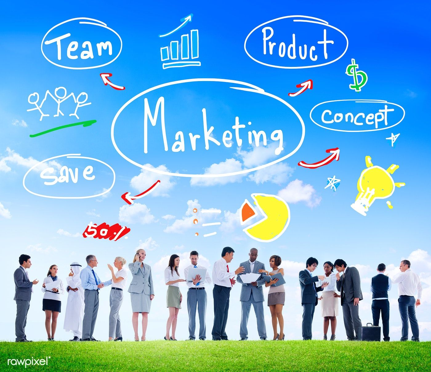 Marketing Strategy Team Business Commercial Advertising ...