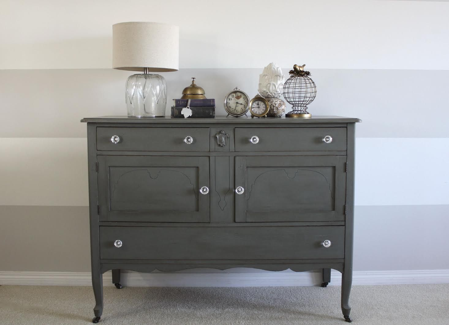 Warm Grey Buffet Guest Post Shabby Chic Dresser Country Chic Paint Furniture Inspiration
