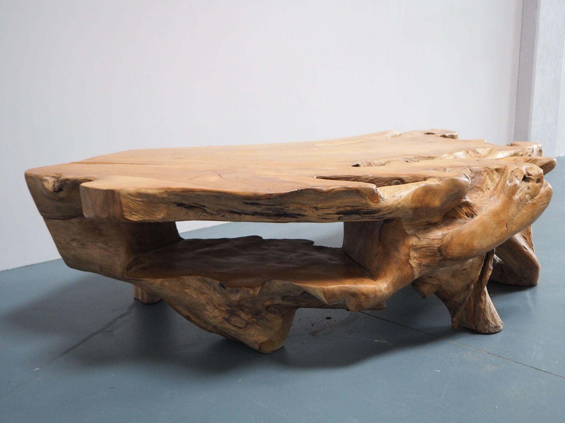 Mesa de centro de madera Indonesia Bali