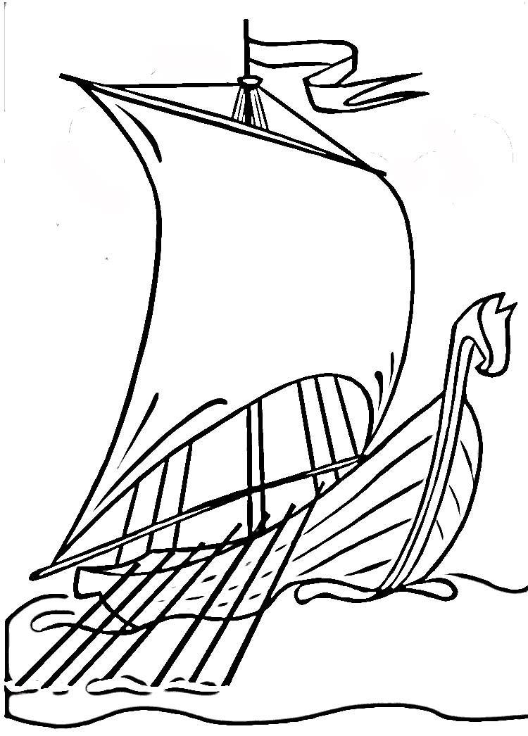 Viking Ship Drawing Viking Ship Ship Drawing Viking Drawings