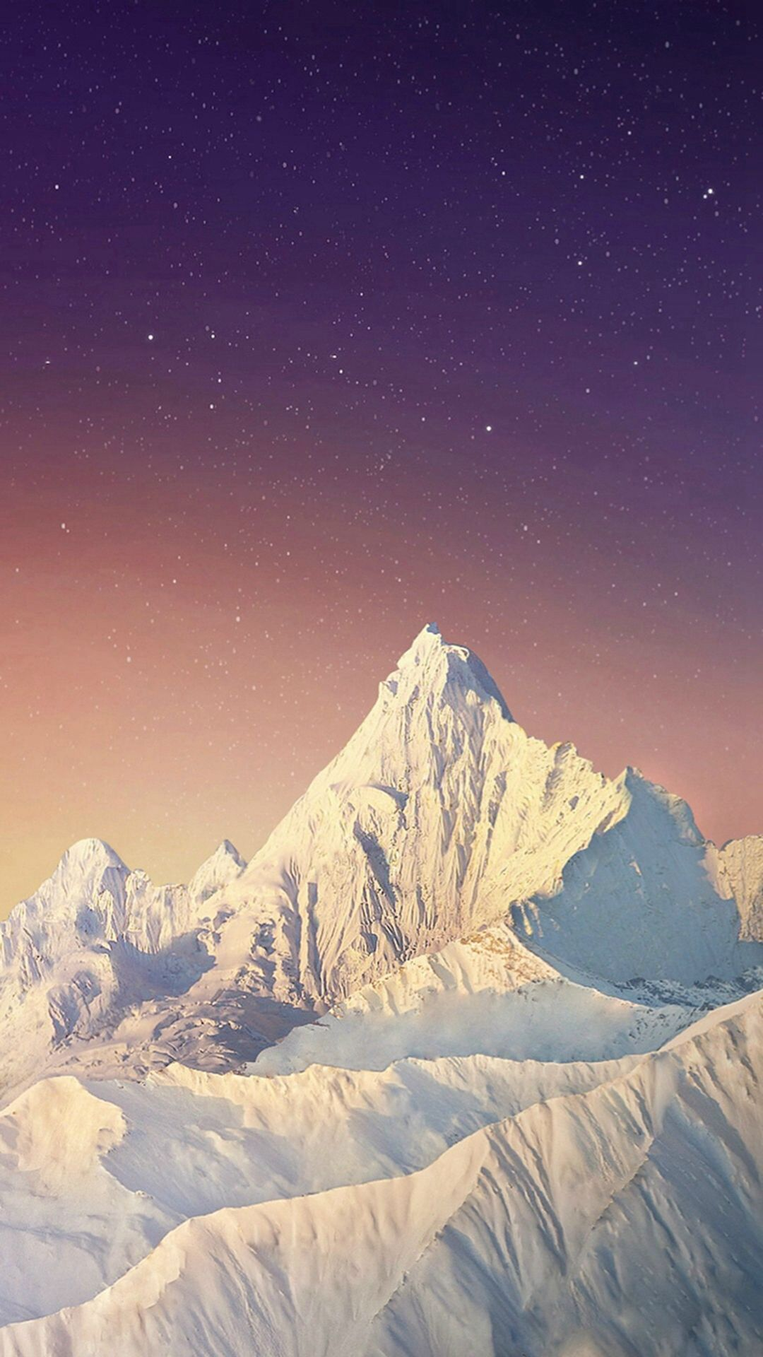 Pure Simple Snowy Mountains Skyscape iPhone 8 Wallpapers